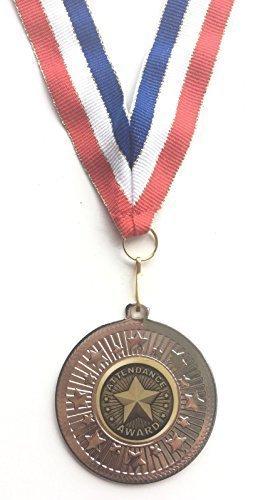 emblems-gifts Teilnahme Auszeichnung silberfarbig 50 mm Medaille & Band