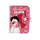 Folk Card Holder In Hand - Pink - Behind the Door