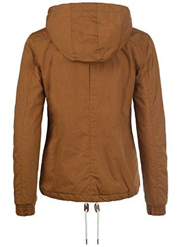 DESIRES Tilda Damen Kapuzenjacke Übergangsjacke aus hochwertigem Material Cinnamon