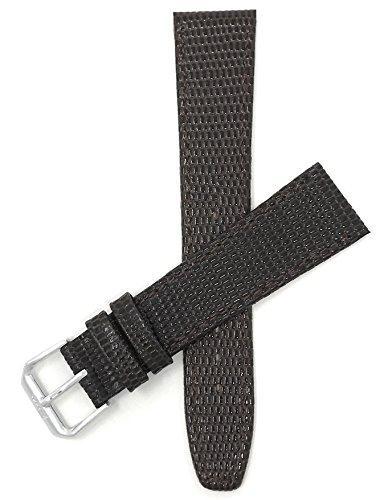 Leder Uhrenarmband 18mm, Braun, Eidechsenmuster, auch verfügbar in schwarz