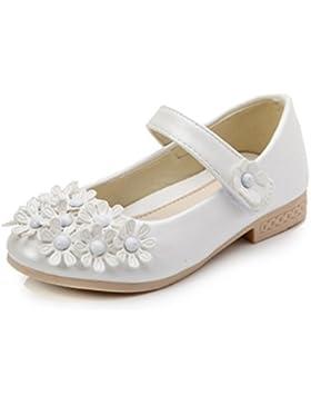 YOGLY Zapatos Para Niñas Princesa Zapatos Infantiles del Estudiante Flor Merceditas Para Niñas Fiesta Escolar...