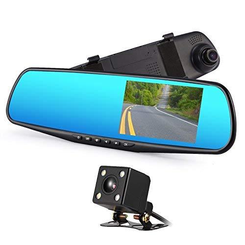 Dash cam,4.3 pollici,registrazione in loop  monitoraggio del parcheggio e g-sensor