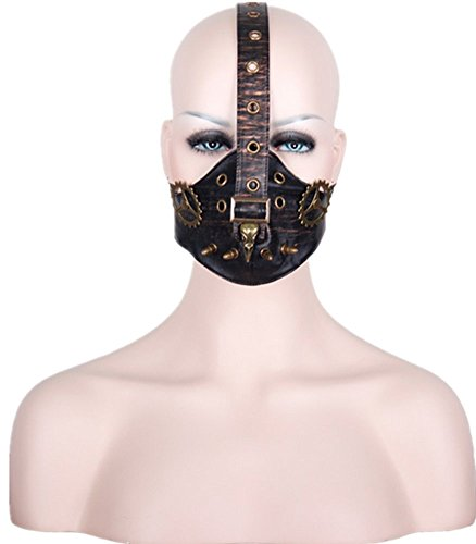 Punk Familie Männlich und Weiblich Steampunk Death Bird Gear Leder Maske