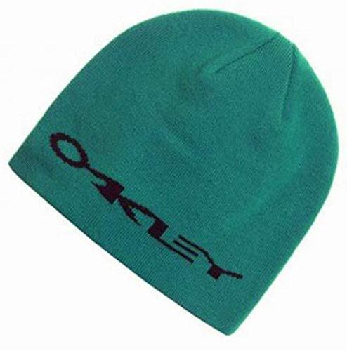 Oakley Clean Stretch Beanie Strickmütze grün mit Logo Unisex NEU Oakley Fine Knit Beanie