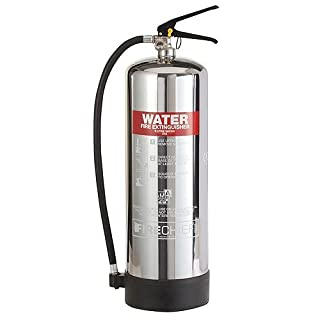 9 Litre Water Polished Chrome Fire Extinguisher from A2Z Fire