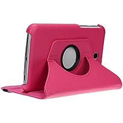 doupi Rotatif Housse pour Samsung Galaxy Tab 4 (7 pouces), Deluxe 360 Degrés Smart Coque de Protection Simili Cuir Coque Cover et Case, rose