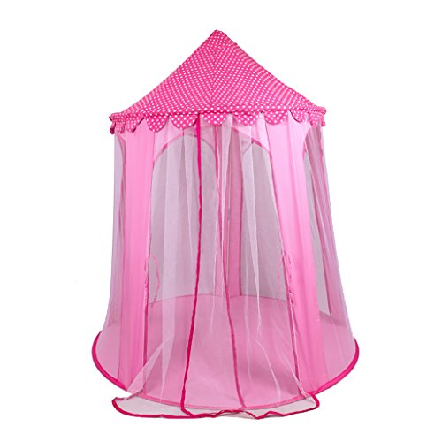 SESO UK- PRINCIPE O PRINCESA PALACIO DE VERANO CASTILLO NIñOS NIñOS PLAY TENT HOUSE JARDIN INTERIOR JUGUETE PLAYHOUSE PLAYA SUN TENT BOYS GIRLS (120X135CM)