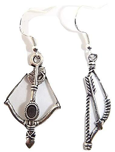 Royal Swan Beautiful Tibetisches Silber Katniss Pfeil und Bogen Hunger Games inspiriert Ohrringe (Pfeil Bogen Katniss Und)