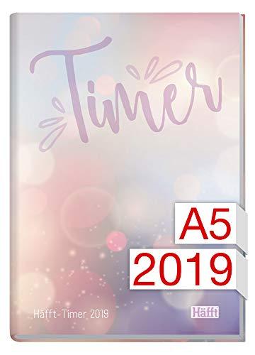 Häfft-Timer A5 JANUAR - DEZEMBER 2019 [Bubbles] Fadenheftung, Hardcover - Zu Frauen Lachen Die Machen, Wie