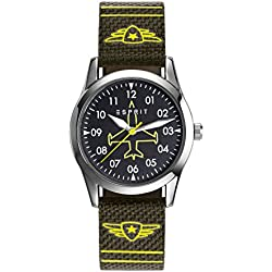 Esprit Graffiti TP90651 ES906514002 Boys' Analogue Quartz Watch, Green, Nylon Strap