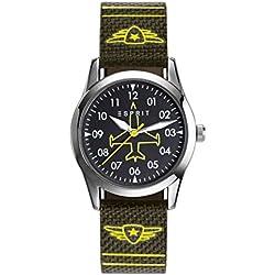 Esprit Graffiti TP90651 ES906514002 Boys' Analogue Quartz Watch, Green, Nylon Strap