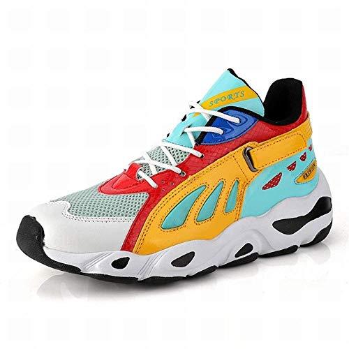 Z&J Herrenschuhe, Pu-Herbst, Komfort High-Top-Sneakers, Persönlichkeit Casual Wanderschuhe, Socken Schuhe, Outdoor, Mode Sportschuhe, Laufschuhe,Farbe,37