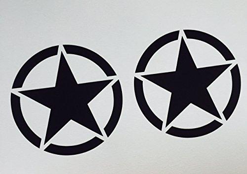 2-x-us-army-stern-schwarz-oldschool-auto-aufkleber-tuning-sticker-hotrod-retro