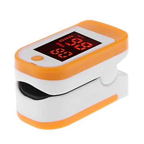 juqilu Pulsossimetro da dito, Saturimetro da Dito Portatile, Saturimetro con Display LCD per Frequenza Del Polso (PR) e La Saturazione di Ossigeno (SpO2) Misure