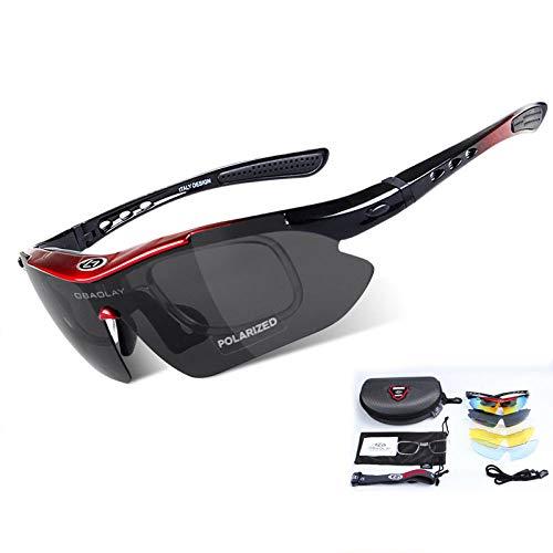 CHENHUI Brille Outdoor Sport Männer Frauen Radsportbrille UV400 Polarisierte Fünf Linsen Mit Box Sonnenbrille @ 9