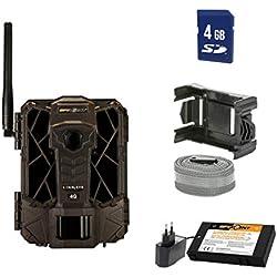 Spypoint Link-Evo-EU Caméra de vidéosurveillance avec Batterie au Lithium et Carte SD pour l'extérieur Marron Camouflage