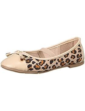 Kinder Schuhe für Mädchen, Z-211, BALLERINAS, LEOPARDEN-OPTIK SLIPPERS, Synthetik in hochwertiger Lederoptik und...