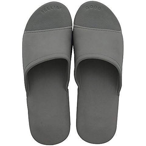 Slip On Zapatillas de ducha antideslizante Sandalias Casa Mule Think espumas Suela Zapatos de playa Baño Slide para adulto, gris