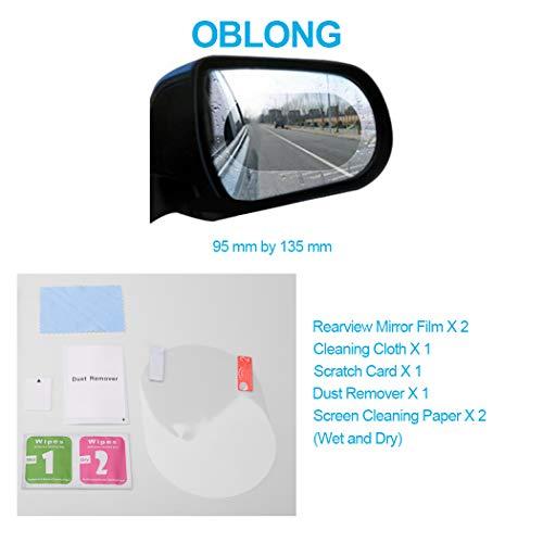 2 Stücke Auto Anti Wasser Nebel Film Anti Fog Rainproof Rückspiegel Schutzfolie Hoher Standard In QualitäT Und Hygiene Autopflege & Aufbereitung