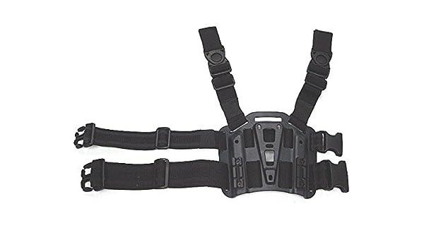MILITARY TACTICAL MODULAR SYSTEM LEG HOLSTER MOLLE PANEL RANGE SHOOTING BLACK
