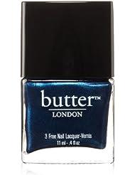 butter LONDON Nagellack, glitzernde Blautöne, Big Smoke, 11 ml