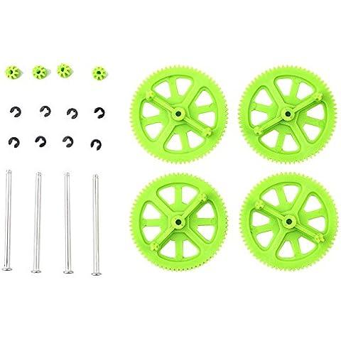 niceeshop(TM) Engranajes Piñón Motor & Eje Clips Juego de Partes para Parrot AR Drone 2.0 (Verde)