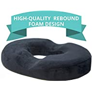 [New Design] Orthopaedic Cushion, Medical Cushion, Donut Cushion for Tailbone Pain, Ultra Premium Quality Rebound Foam for Pain Relief; Haemorrhoid's, Post-Surgery Relief, Bed Sores, Sciatica
