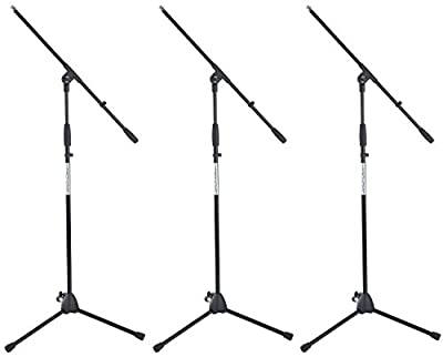 Pronomic MS-116 Microphone Boom Stand Set of 3