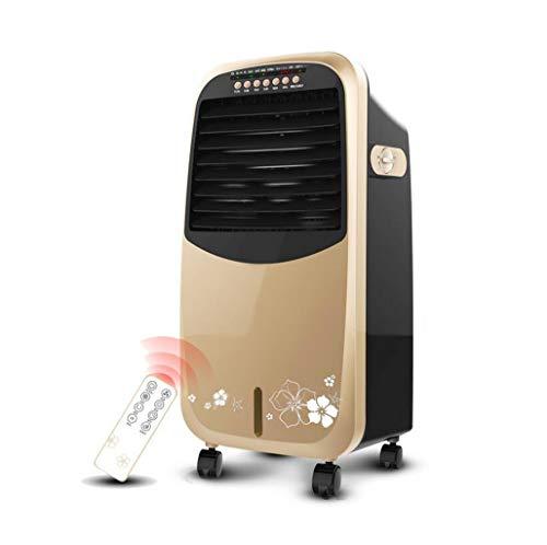 KEYUAN 4-in-1- Mobiles Klimagerät mit Luftkühler - Heiz- und Lüfterfunktion, 3 Lüftergeschwindigkeiten im Ruhemodus, Fernbedienung und programmierbarem 7.5 Stunden-Timer, Gold,0101AUX-20H