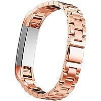 Fitbit alta pulseras, IVSO–Acero inoxidable Correa de Metal para Reloj de pulsera para Fitbit Classic banda alta Smart Watch Rosa Golden Für Fitbit Alta
