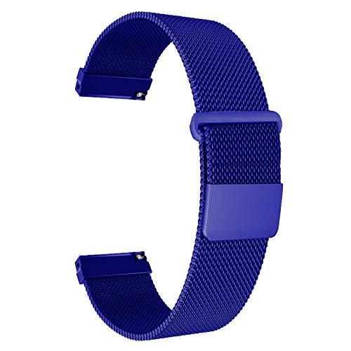 Ersatz Metall Bands Uhrenarmband-Wahl der Farbe & Breite (22mm)-PREMIUM stark Milanaise Loop Bands, (magnetisch), (Magnetic)-Blue