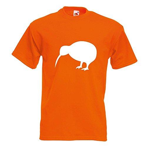 ... Motive Oberteil Baumwolle Print Größe S M L XL XXL Orange. KIWISTAR -  Kiwi / Neuseeland T-Shirt in 15 verschiedenen Farben - Herren Funshirt  bedruckt