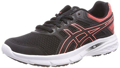 ASICS Damen Gel-Excite 5 Laufschuhe, Mehrfarbig (Black Flash Coralblack), 40.5 EU - Kinsei Laufschuhe Damen