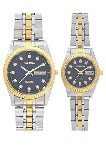 Faleda P6105TTB-DAY-DATE Sports Analog Watch For Couple
