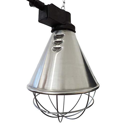 Koll Living Infrarot-Wärmestrahlgerät 150W mit/ohne Leuchtmittel, Kückenlampe, Schweinelampe (5,0 m Kabel - mit Sparschalter)
