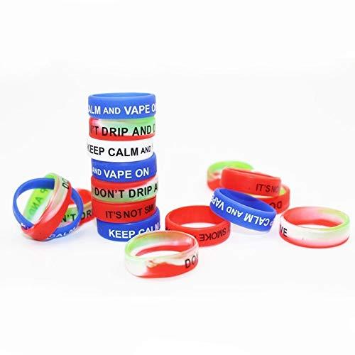 Vape Bands Schutzring Silicone Anti Slip Band e Zigaretten zubehör für RBA RDA verdampfer Tank, 10 Stück (10 Stück Mix)