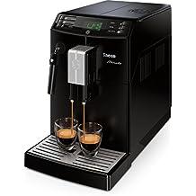 Saeco Minuto - Cafetera espresso super automática, con espumador de leche clásico, color negro
