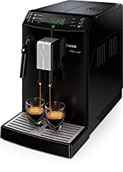 Saeco HD8761/01 Minuto Kaffeevollautomat, klassischer Milchaufschäumer, schwarz