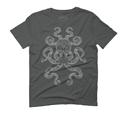 Color Me Octopus - Light Grey Men's Graphic T-Shirt - Design By Humans Anthracite