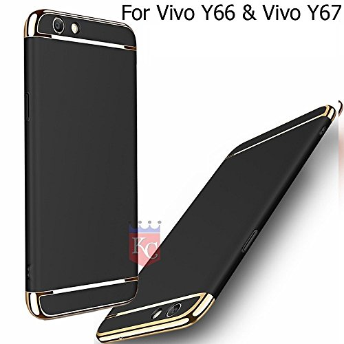KC Superior Drop Full Body Protection Case Anti Scratch Proof 3 in 1 Back Cover for Vivo Y66 & Vivo Y67 - Black