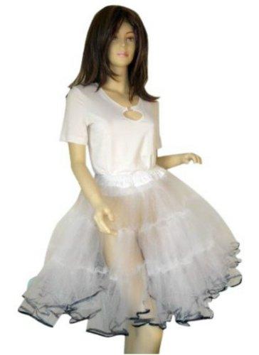 Jahre Kostüm Sechziger Mode - Seruna P03 Tolles Pettticoat f. Kleid oder Tellerrock, in weiß, passend zum 50er 60er Jahre Outfit, Einheitsgröße 34-42