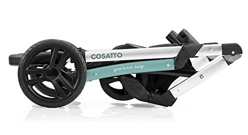 Cosatto wow Travel system with Port bag and footmuff in Fjord Cosatto Includes - Pushchair, Carrycot, Port Car seat, Footmuff, Changing bag and Raincover Suitable from birth up to 15kg (4 years approx.) 'In or out' facing pushchair seat lets them bond with you or enjoy the view. 8