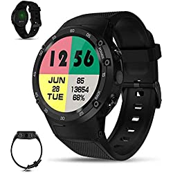 Gereton Zeblaze Thor 4G LTE GPS SmartWatch Android 7.0 MTK6737 Quad Core 1GB + 16GB 5.0MP cámara 580mAh 4G / 3G / 2G Data Call Watch para Hombres Monitor de frecuencia cardíaca GPS Smart Watch Phone