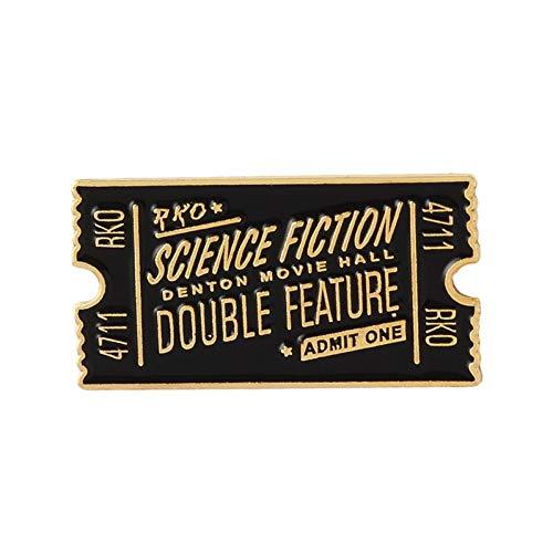 FSAKLFS American Wrestling Contest Ticket Brosche Für Frauen Geometrische Emaille Pin Denim Jacken Tasche Abzeichen Kreative Englisch Brief Broschen