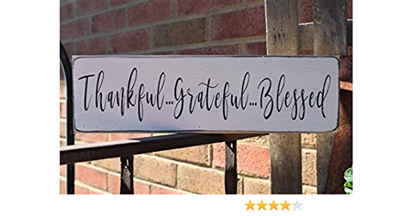 Yohoba Thankful Grateful Blessed Wood Sign Family Sign Love Sign Farmhouse Sign Thanksgiving Kitchen Sign Wood Signs Marriage Sign Family Amazon Co Uk Kitchen Home