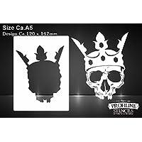 King Skull Stencil A5https://amzn.to/2PLGLsQ