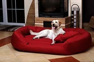 tierlando s5 04 sammy canap lit robuste pour chien taille xxl 140cm bordeaux animalerie. Black Bedroom Furniture Sets. Home Design Ideas