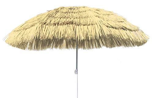 Spetebo Hawaii Strandschirm Ø 150cm - knickbar - Sonnenschirm Gartenschirm Balkonschirm
