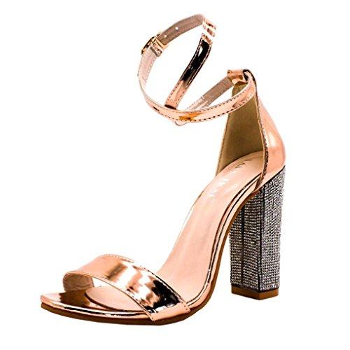 ღ uomogo scarpe donna tacco eleganti sexy plateau medio alto - sandali donna con zeppa estive elegant scarpe donna estive eleganti scarpe donna tacco