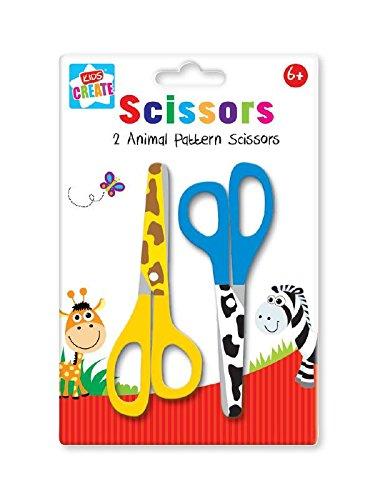 Schere, für Childern, 2 Stück, Tiere, Muster